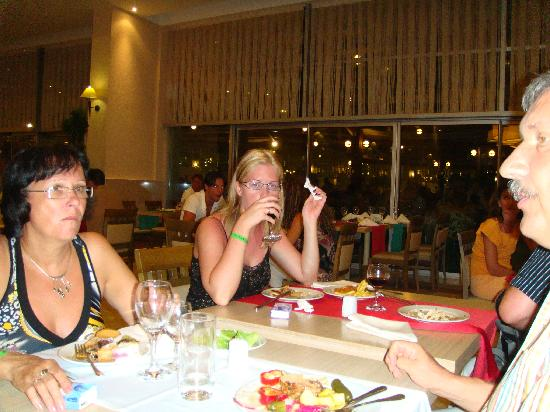 Miracle Resort Hotel: At the dinner