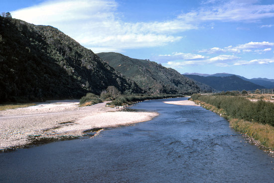 Wellington, Nouvelle-Zélande : The Hutt River at Silverstream