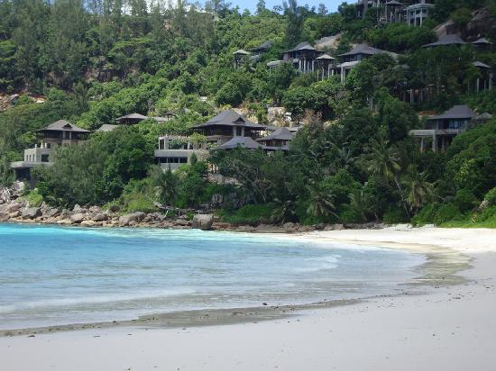 Four Seasons Resort Seychelles : Looking North along beach with Villas