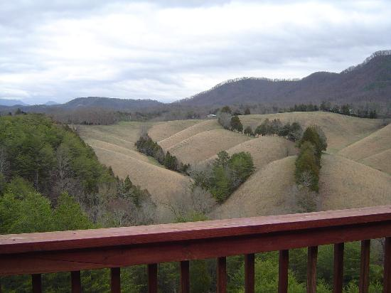 Berry Springs Lodge: View of the mountains from our deck/hot tub!