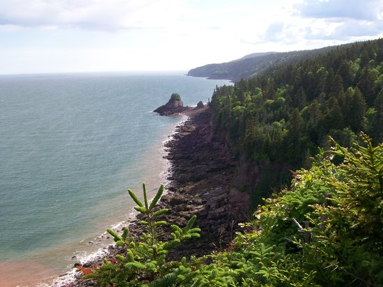 Alma, Canada: Coastline of Fundy Bay
