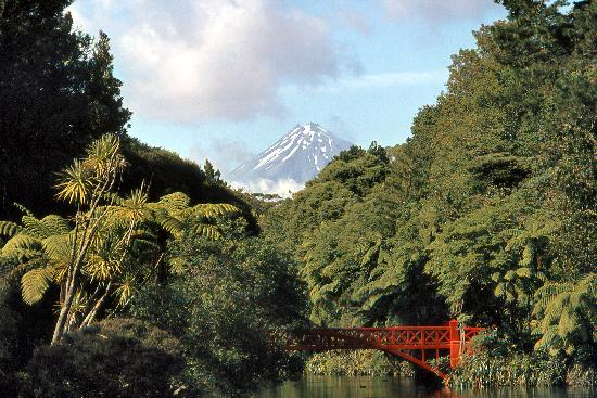 Mount Taranaki from Pukekura Park, New Plymouth