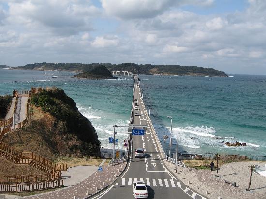 Shimonoseki, Giappone: 本州側からみた角島大橋。