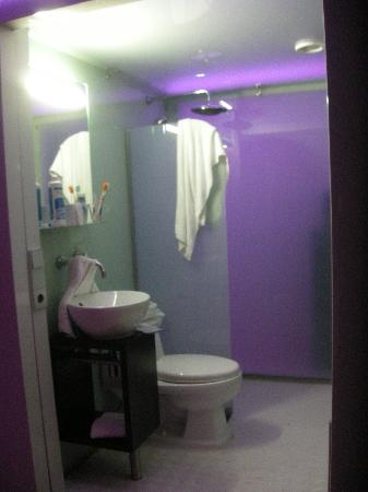 Qbic Hotel Amsterdam WTC: Il bagno