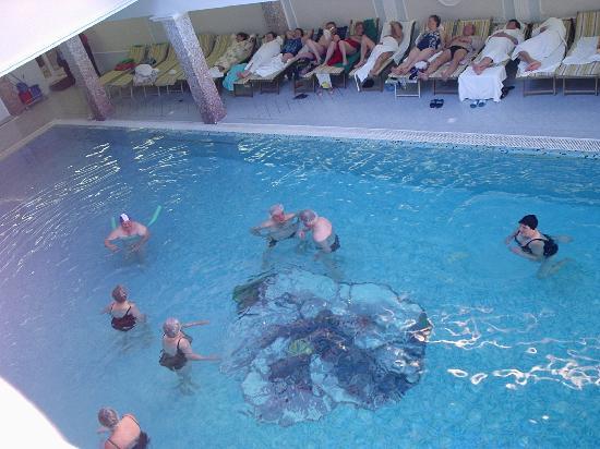 La piscina esterna a febbraio foto di palace hotel for Abano terme piscine