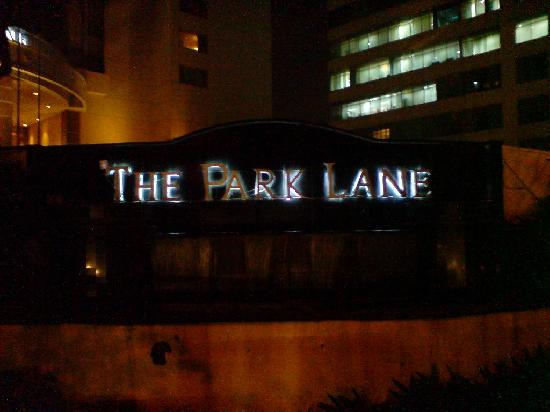 The Park Lane Jakarta: the entrance at night