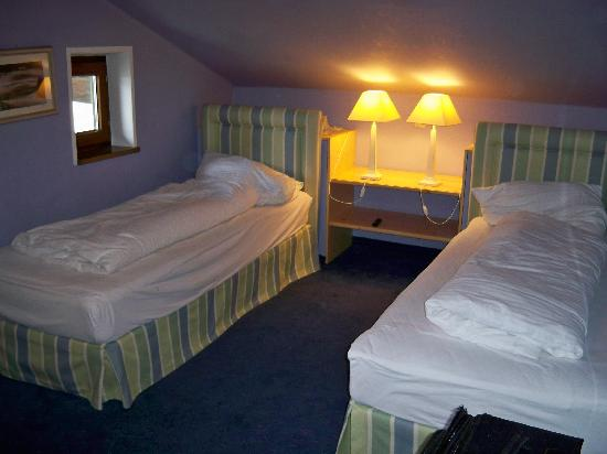 Chalet Strasshofer: Our attic room. Small but clean