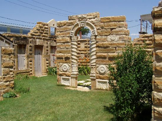 Lucas, KS: This photo of the carved limestone collection at Grassroots was my desktop photo for several yea