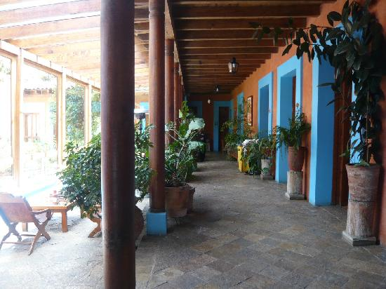 Hotel Posada El Paraiso: couloir vitré sur patio