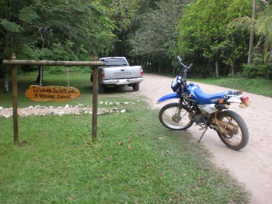 Iguana Junction entrance (with my rented motorcycle)
