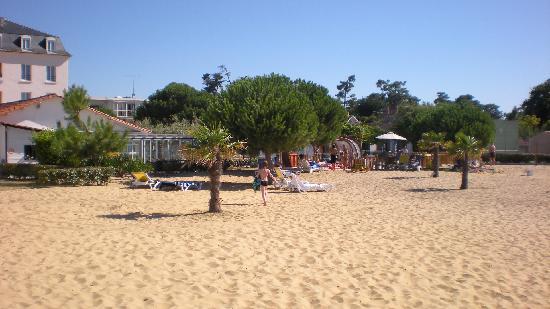Inter-Hotel de la Plage : La plage privée de l'Hôtel