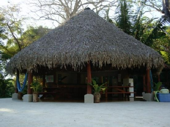 Villas Hermosas: Right next to the pool, the tiki hut where breakfast is served every morning.