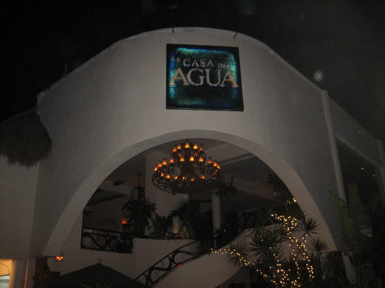 La Casa del Agua: The front of the restaurant