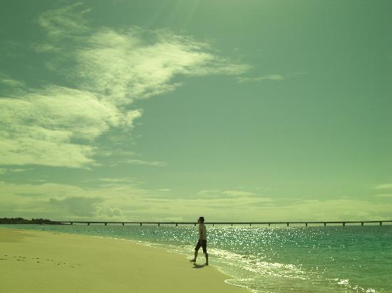 Yonaha Maehama Beach: 来間島へ続く橋