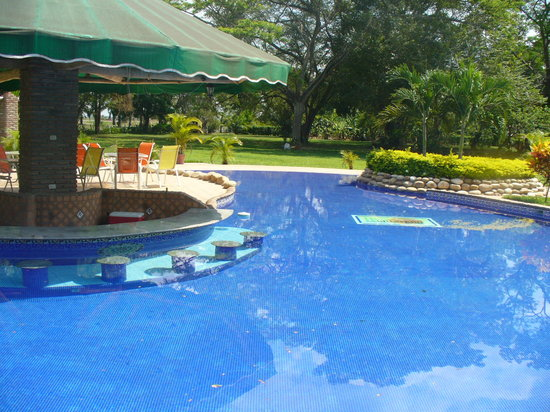 Hato Cristero: Pristine pool with swim up bar that is put to good use!