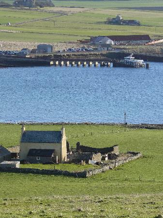 the quoy from above and houton pier picture of quoy of houton
