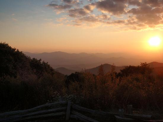 Blue Ridge, Georgien: A beautiful sunset