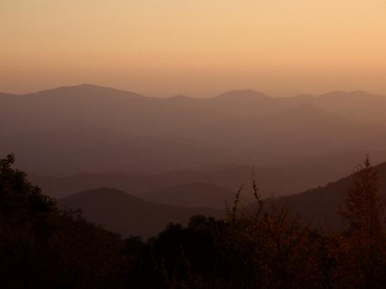 Twilight in the Blue Ridge Mountains