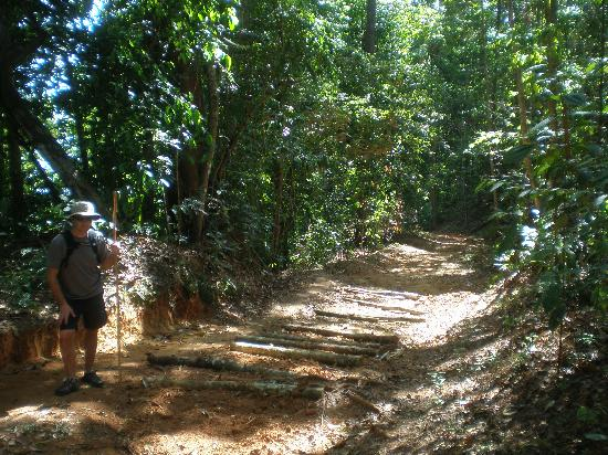 El Remanso Lodge: Hill hike to/from beach