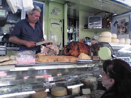 Mercato delle Cascine : 焼きブタスライスサンド
