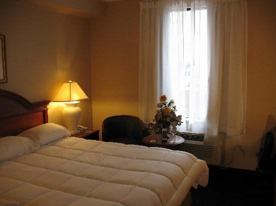 Monte Carlo Inn Toronto West Suites: great duvets in King size bed