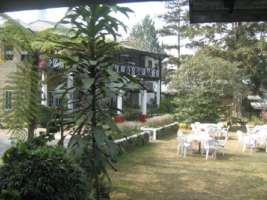 Himalayan Hotel: Main Block and garden