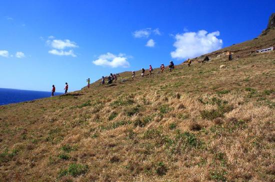 Province of Batanes, الفلبين: tourists trekking