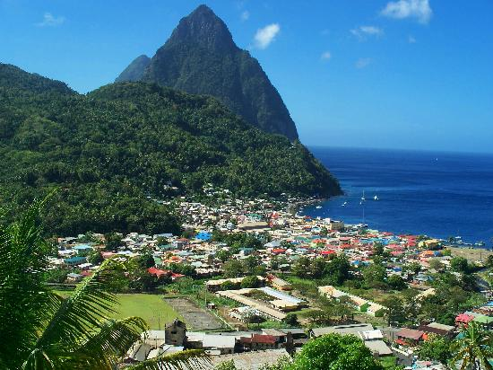 Villa des Pitons: View from the Villa's Terrace