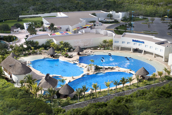 Wet'n Wild Cancun : Aerial View of the Dolphin Swim section of the par
