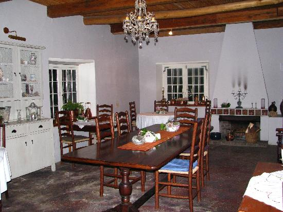 Moolmanshof Bed & Breakfast : Main dinning area