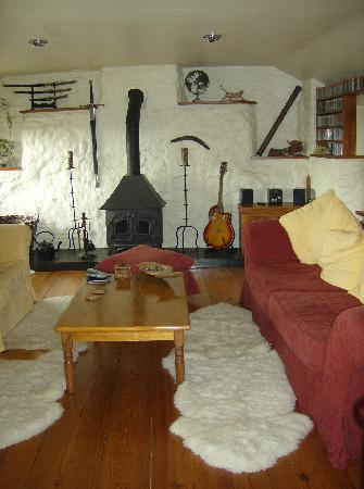 Pant-Teg B&B and Cottages: Guest's lounge in B and B
