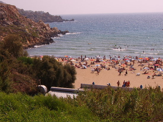 St. Paul's Bay, Malte : Golden Sands Beach - Island of Malta