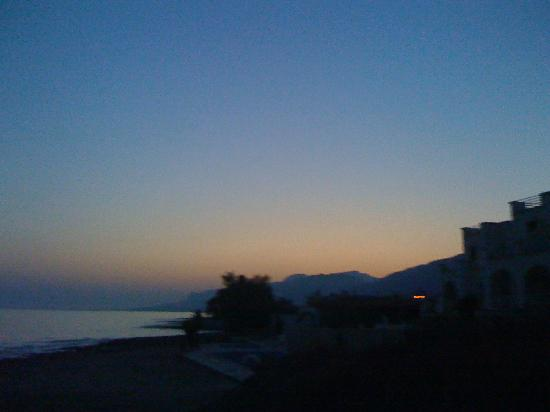 Palm Beach Hotel : Sunset on Crete from the Hotel