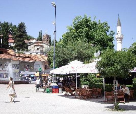 Church and Mosque on a Square in Ohrid