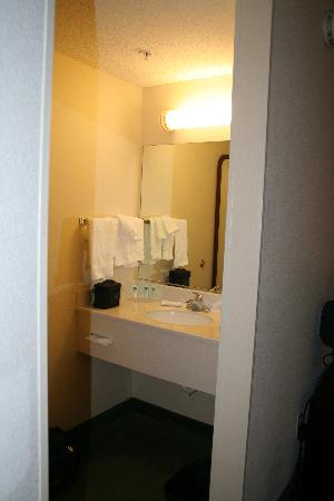 SpringHill Suites Manchester-Boston Regional Airport: bathroom sink outside of tub area