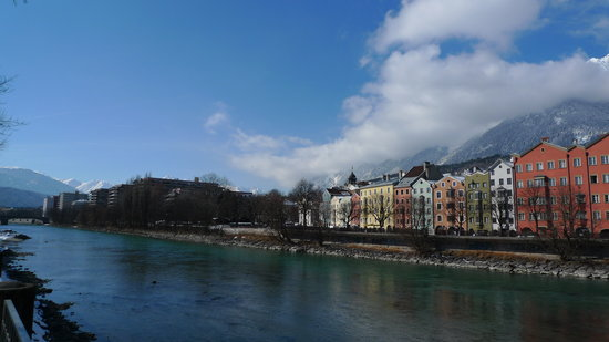 Innsbruck, Austria: The Riverfront.