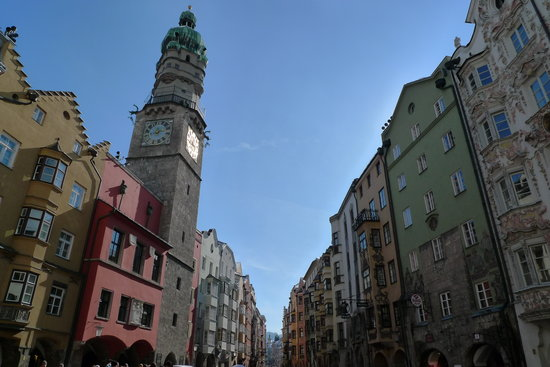 Innsbruck, Autriche : The Altstadt Square.