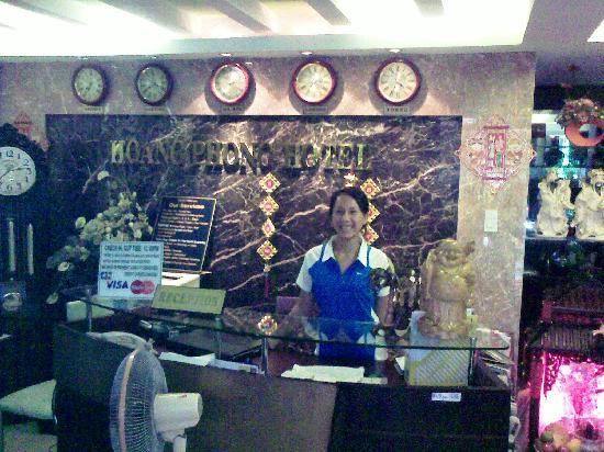 Son, The receptionist at Hoang Phong Hotel