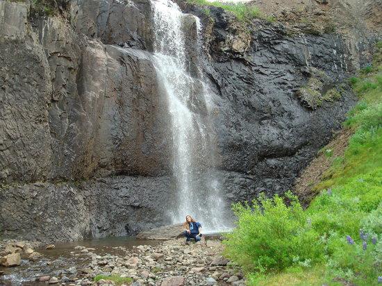 Island: Ljósárfoss in Hallormsstaðaskógur, Egilsstaðir, E-Iceland