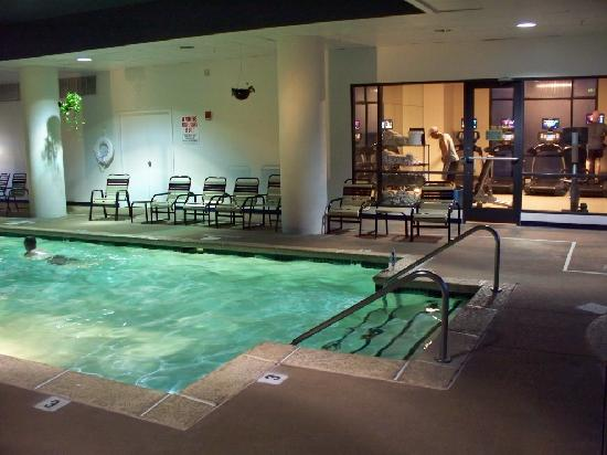 indoor gym pool. Marriott St. Louis West: Indoor Pool \u0026 Gym Area
