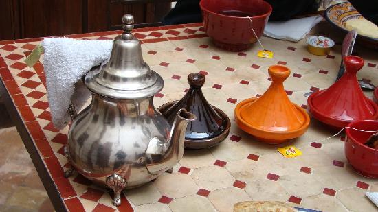 Riad Elixir : les petits dèj du Riad, délicieux...