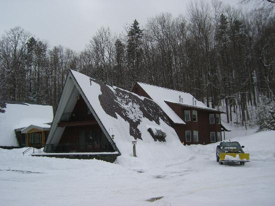 Birch Ridge Inn after a Night of Snow