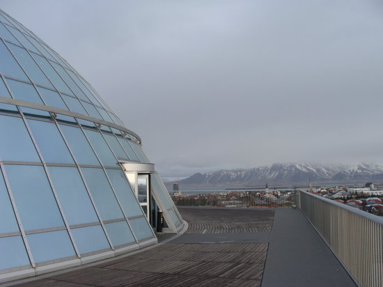 Reykjavik, İzlanda: Top of the pearl (you can't miss it)