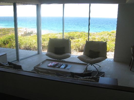 Southern Ocean Lodge: view from bed