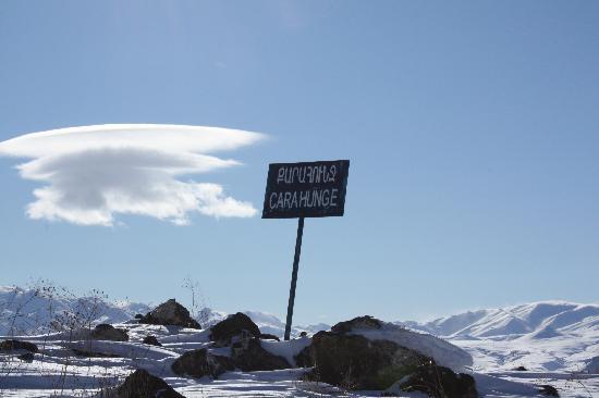 Karahundj (Armenia's Stonehenge) : Strange cloud formations over Zorats Karer
