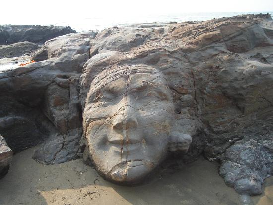Rock carving vagator beach picture of