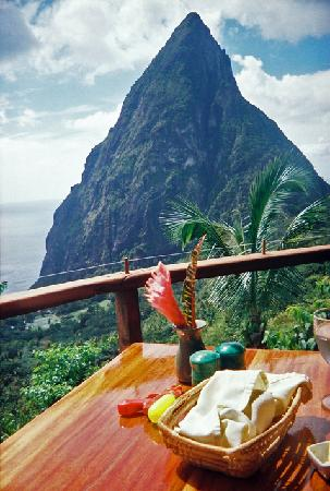 Marigot Beach Club and Dive Resort: Ladera lunch