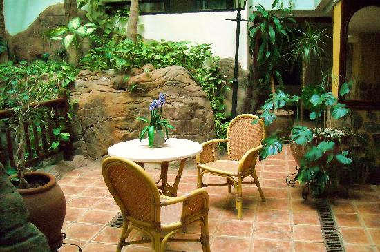 One of the sitting areas dotted around the hotel