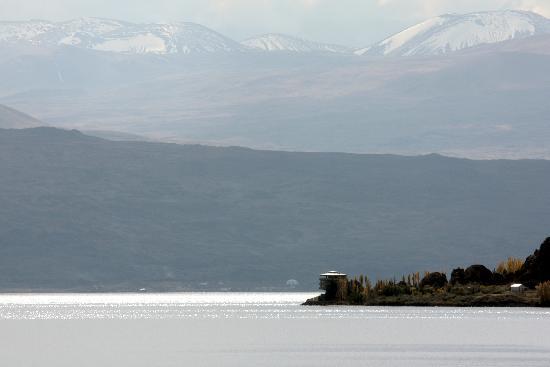 Lake Sevan - view to the Peninsula and Gegham mountain range, Oct 2008
