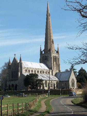 The Bays Guest House: Snettisham church nearby - worth a visit!
